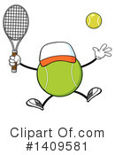 Royalty-Free (RF) Tennis Ball Character Clipart Illustration #1409581
