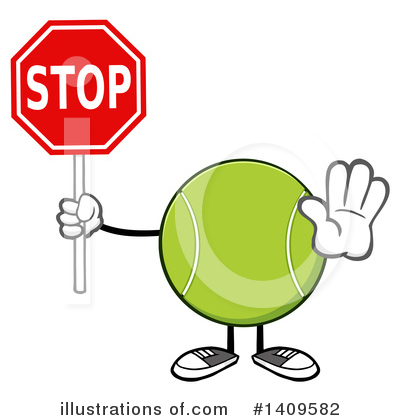 Tennis Ball Clipart #1409582 by Hit Toon