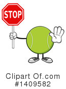 Royalty-Free (RF) Tennis Ball Character Clipart Illustration #1409582