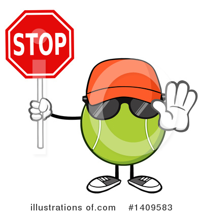 Tennis Ball Clipart #1409583 by Hit Toon