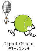 Royalty-Free (RF) Tennis Ball Character Clipart Illustration #1409584