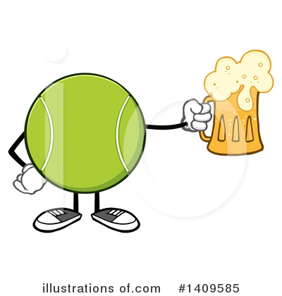 Tennis Ball Clipart #1409585 by Hit Toon