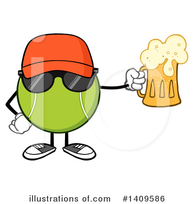 Tennis Ball Clipart #1409586 by Hit Toon