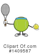 Royalty-Free (RF) Tennis Ball Character Clipart Illustration #1409587