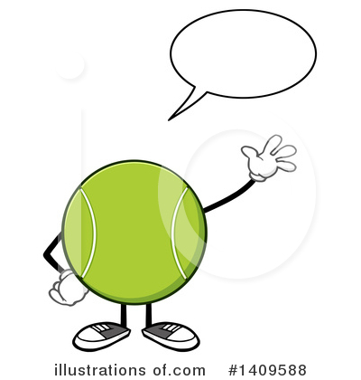 Tennis Ball Clipart #1409588 by Hit Toon