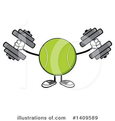 Tennis Ball Clipart #1409589 by Hit Toon
