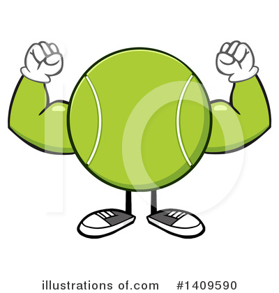 Tennis Ball Clipart #1409590 by Hit Toon