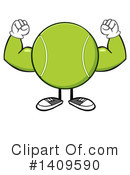 Royalty-Free (RF) Tennis Ball Character Clipart Illustration #1409590
