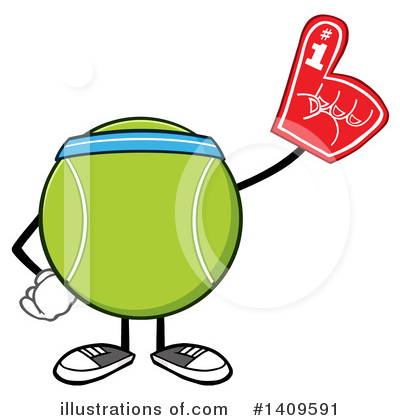 Tennis Ball Clipart #1409591 by Hit Toon