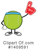 Royalty-Free (RF) Tennis Ball Character Clipart Illustration #1409591