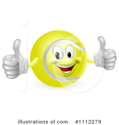 Royalty-Free (RF) Tennis Ball Clipart Illustration by AtStockIllustration - Stock Sample #1112279