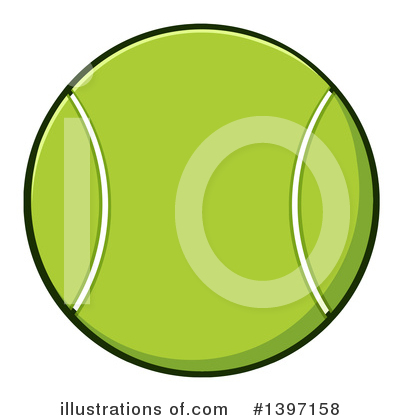 Royalty-Free (RF) Tennis Ball Clipart Illustration by Hit Toon - Stock Sample #1397158