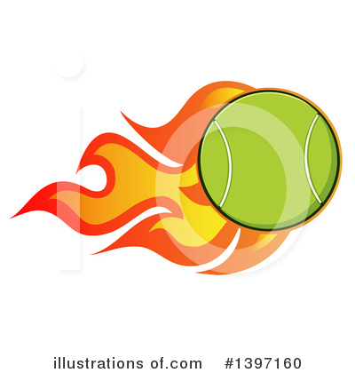 Tennis Ball Clipart #1397160 by Hit Toon