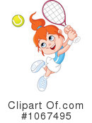 Royalty-Free (RF) Tennis Clipart Illustration #1067495