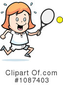 Royalty-Free (RF) Tennis Clipart Illustration #1087403