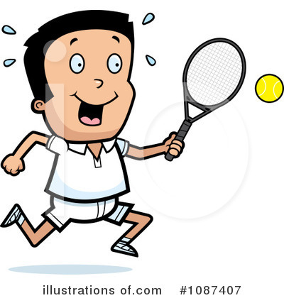 Tennis Clipart #1087407 by Cory Thoman