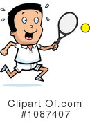 Royalty-Free (RF) Tennis Clipart Illustration #1087407