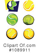 Royalty-Free (RF) Tennis Clipart Illustration #1089911
