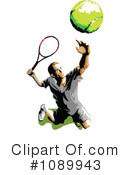 Royalty-Free (RF) Tennis Clipart Illustration #1089943