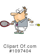 Royalty-Free (RF) Tennis Clipart Illustration #1097404