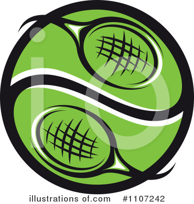 Royalty-Free (RF) Tennis Clipart Illustration by Vector Tradition SM - Stock Sample #1107242