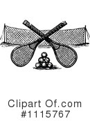 Royalty-Free (RF) Tennis Clipart Illustration #1115767