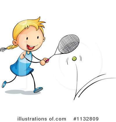 Tennis Girl Clipart #1132809 by Graphics RF