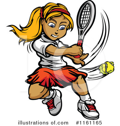 Tennis Girl Clipart #1161165 by Chromaco