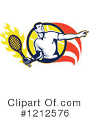 Royalty-Free (RF) Tennis Clipart Illustration #1212576