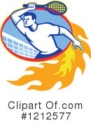 Royalty-Free (RF) Tennis Clipart Illustration #1212577