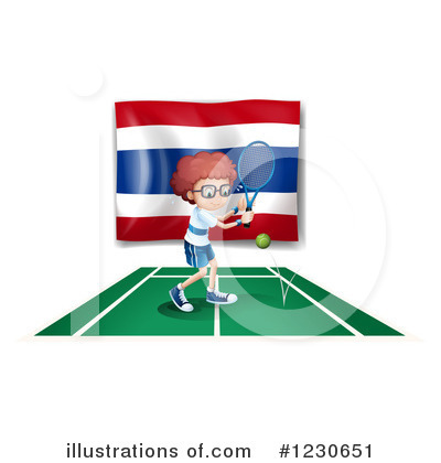 Thai Flag Clipart #1230651 by Graphics RF