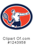 Royalty-Free (RF) Tennis Clipart Illustration #1243958