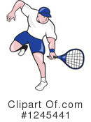 Royalty-Free (RF) Tennis Clipart Illustration #1245441
