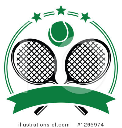 Tennis Clipart #1265974 by Vector Tradition SM