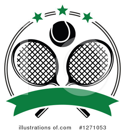 Tennis Clipart #1271053 by Vector Tradition SM