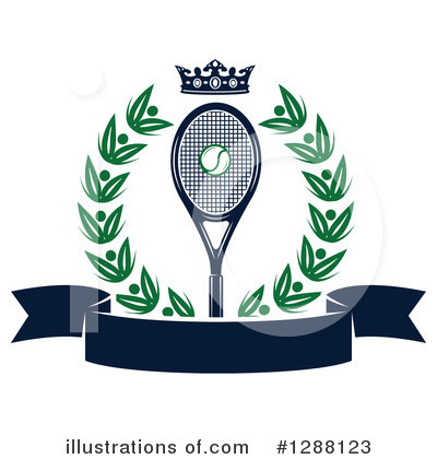 Royalty-Free (RF) Tennis Clipart Illustration by Vector Tradition SM - Stock Sample #1288123