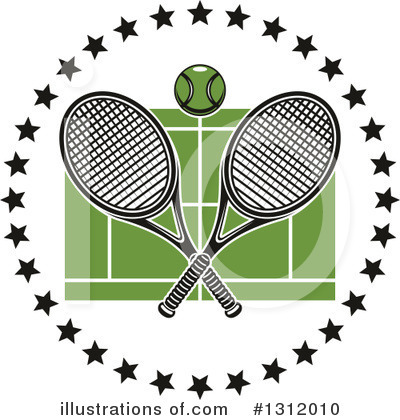 Tennis Clipart #1312010 by Vector Tradition SM