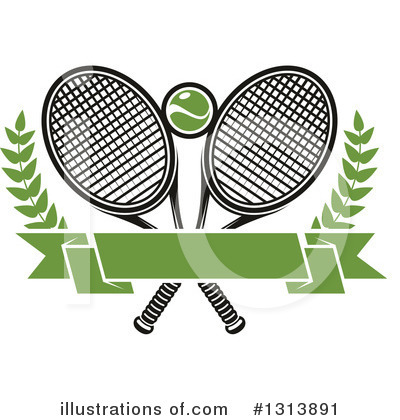 Tennis Clipart #1313891 by Vector Tradition SM