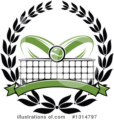 Royalty-Free (RF) Tennis Clipart Illustration by Vector Tradition SM - Stock Sample #1314797