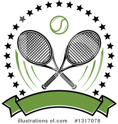 Tennis Clipart #1317078 by Vector Tradition SM