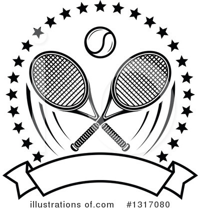 Tennis Clipart #1317080 by Vector Tradition SM