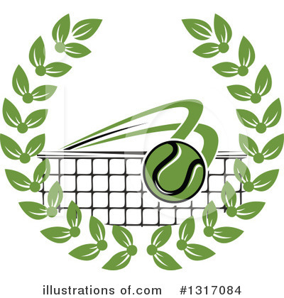 Royalty-Free (RF) Tennis Clipart Illustration by Vector Tradition SM - Stock Sample #1317084