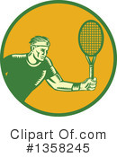 Royalty-Free (RF) Tennis Clipart Illustration #1358245