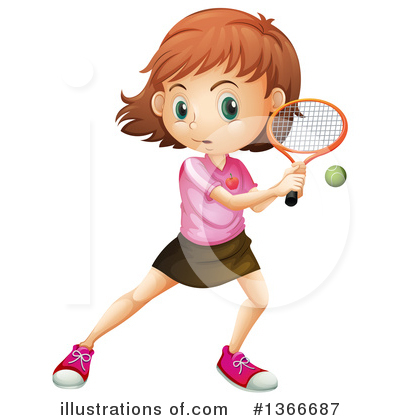 Tennis Clipart #1366687 by Graphics RF