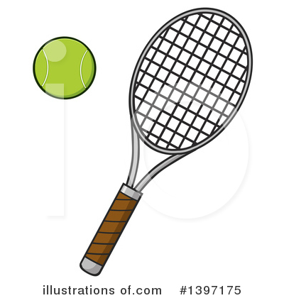 Tennis Ball Clipart #1397175 by Hit Toon