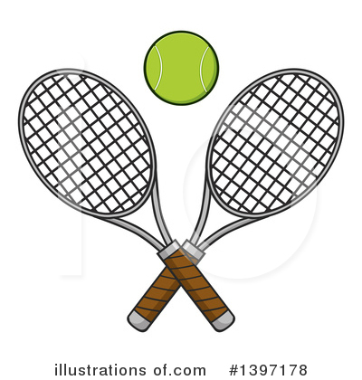 Tennis Ball Clipart #1397178 by Hit Toon