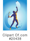 Royalty-Free (RF) Tennis Clipart Illustration #20438