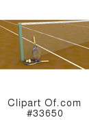 Royalty-Free (RF) Tennis Clipart Illustration #33650