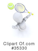 Royalty-Free (RF) tennis Clipart Illustration #35330