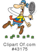 Royalty-Free (RF) Tennis Clipart Illustration #43175